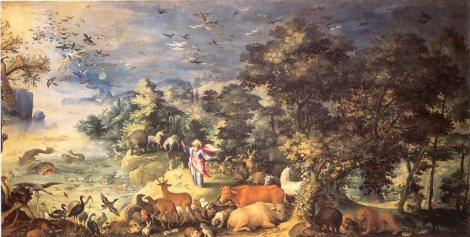 Hendrick Van Balen.  Dios creando la biodiversidad. Galería Doria Panphili. Roma